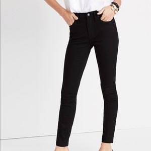 "Madewell 9"" High Rise Stay Black Skinny Jeans"